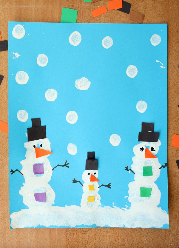 snowman paint craft