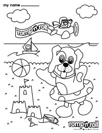 Romp n' Roll Orangeburg Rompy Coloring Sheet